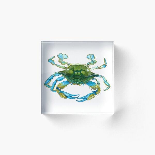 Watercolor Crab Acrylic Block