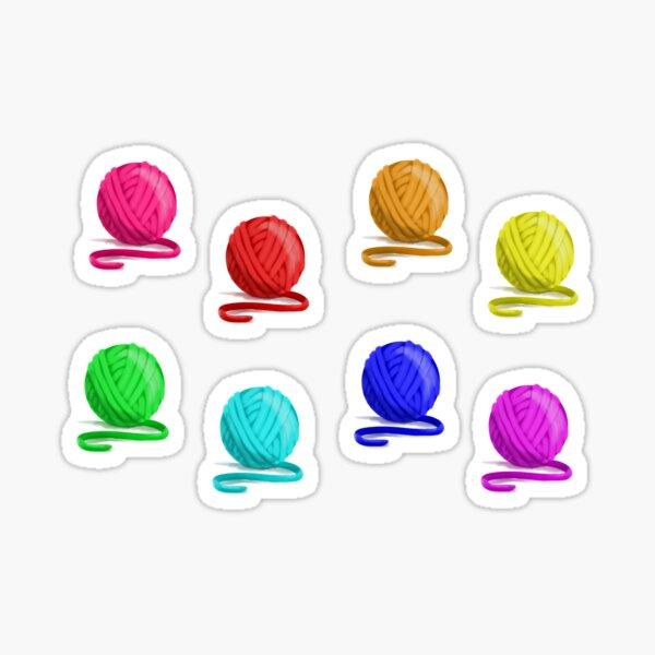 Rainbow Balls of Yarn - Knitter Crocheter Sticker