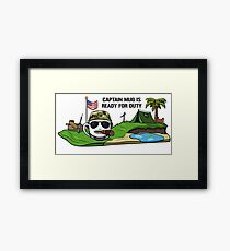 Captain Mug Framed Print