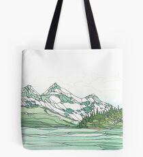 Glacier Bay National Park in Watercolor Tote Bag