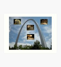 Exhibits under the Arch Art Print