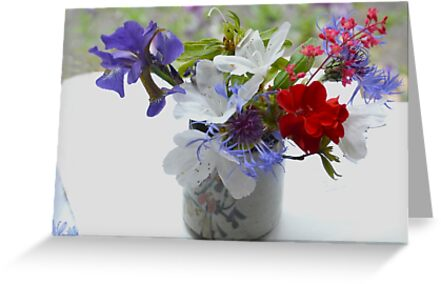 Red, White And Blue For A Dear Friend by lynn carter