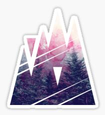 Shape Of The Woods Sticker