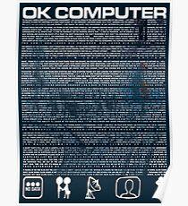 Radohead - OK Computer lyrics Poster