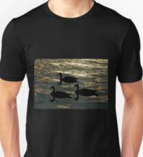 Geese Silhouettes At Sunrise T-Shirt
