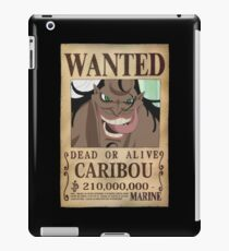 -ONE PIECE- Caribou Wanted iPad Case/Skin