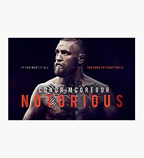 Conor McGregor the Notorious Photographic Print