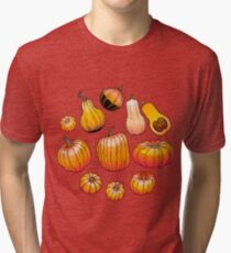 Graphic collection of pumpkins Tri-blend T-Shirt