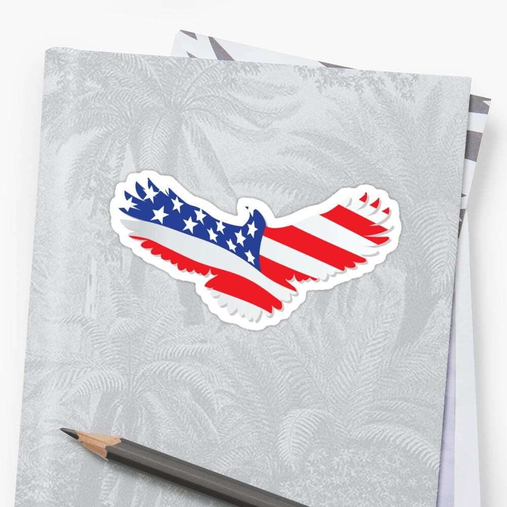 USA eagle flag by leologie