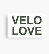 Bike Velo Love Khaki | Sports Canvas Print
