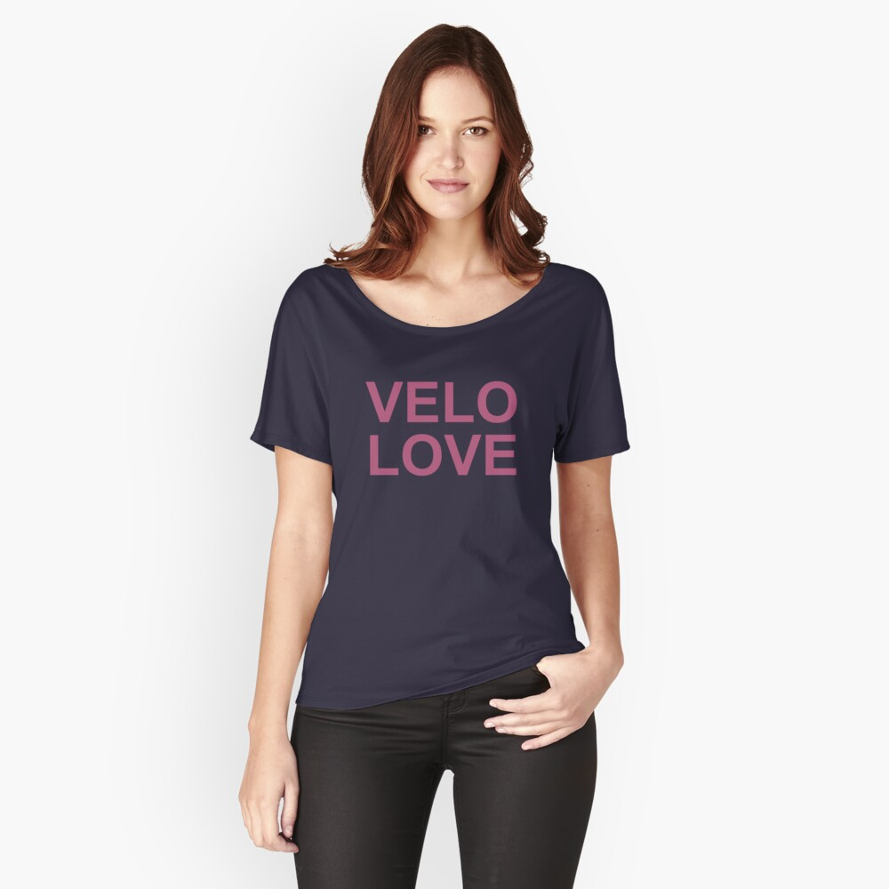 Bike Velo Love Pink | Sports Women's Relaxed Fit T-Shirt Front