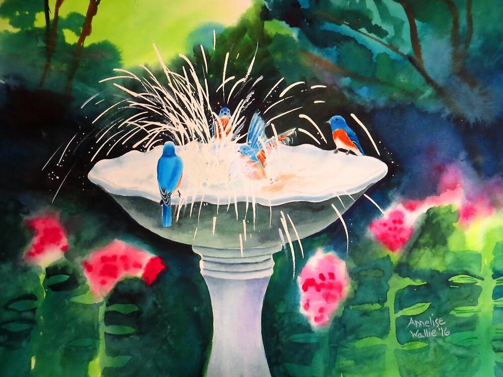 Bluebirds Evenings by Annelise Wallie