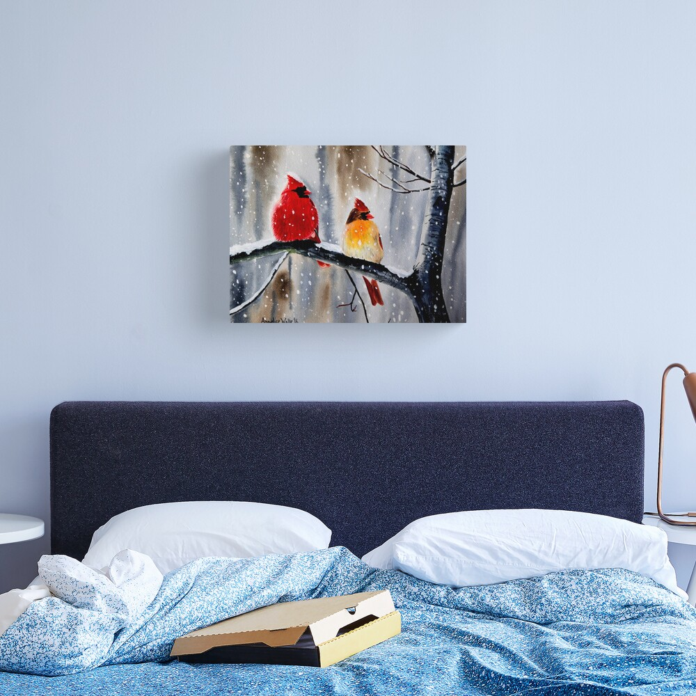 Cardinal Pair Canvas Print