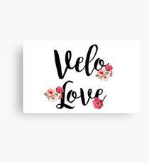 Bike Velo Love Flowers | Sports Canvas Print
