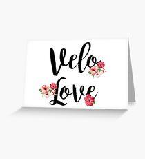 Bike Velo Love Flowers   Sports Greeting Card