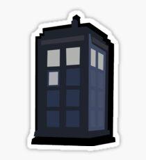 Minimalist TARDIS sticker  Sticker