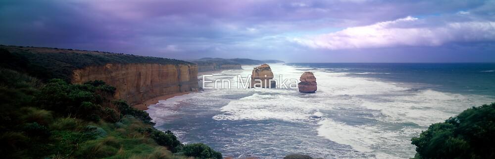 Winter Coastline -Twelve Apostles by Ern Mainka