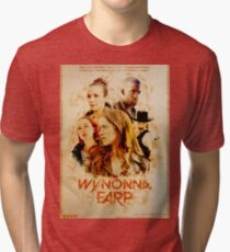 Wynonna Earp - Western Style Cast Poster Tri-blend T-Shirt