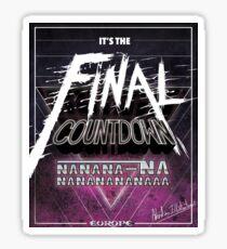 Final Countdown Sticker