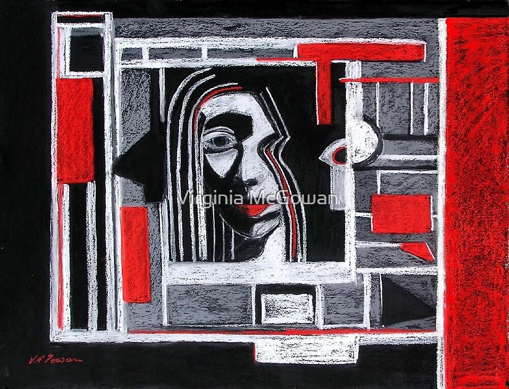 Portrait, half boxed in. by Virginia McGowan