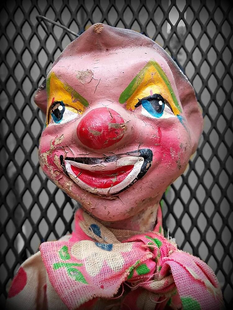 Antique Clown Marionette by camillecurious