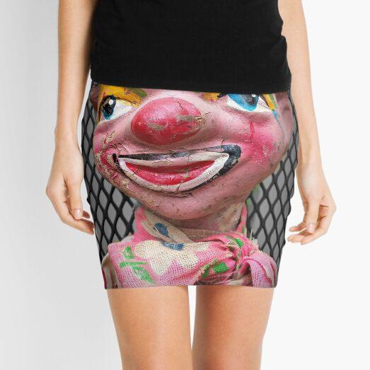 Antique Clown Marionette Mini Skirt
