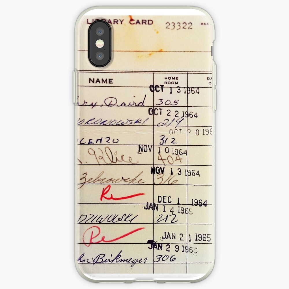 Library Card 23322 iPhone Cases & Covers