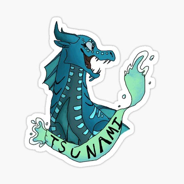 Wings of Fire Sticker Tsunami Sticker