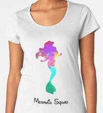Mermaid Squad Inspired Silhouette Women's Premium T-Shirt