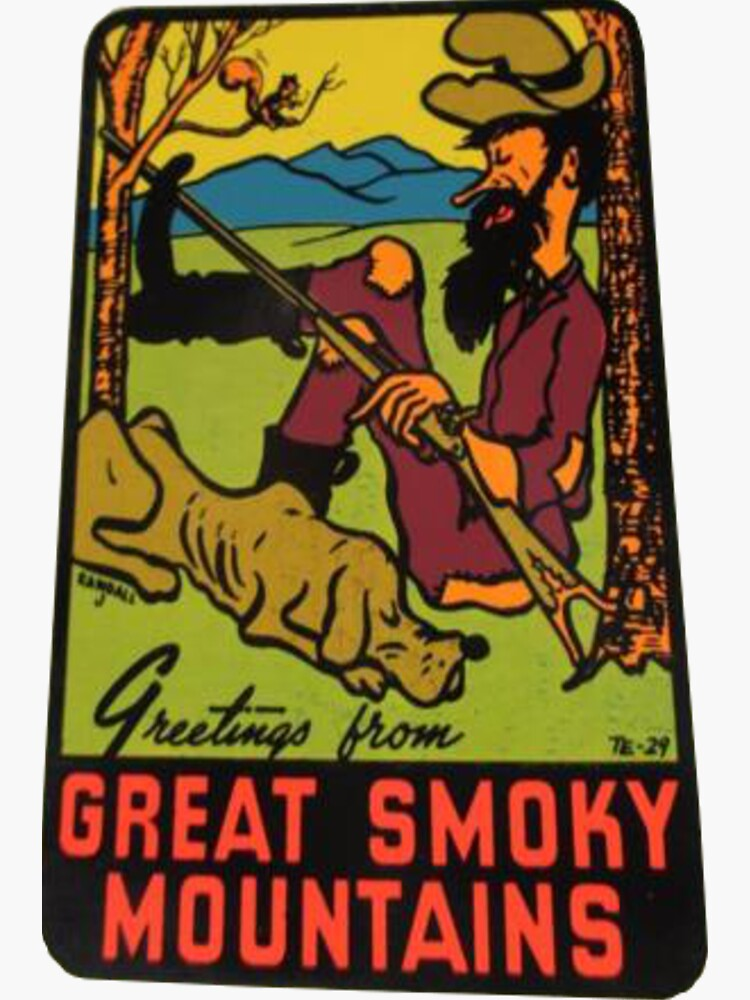 Greetings from Great Smoky Mountains National Park Vintage Travel Decal by MeLikeyTees