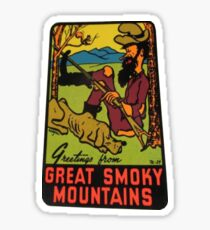 Greetings from Great Smoky Mountains National Park Vintage Travel Decal Sticker