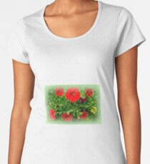 passage with red flowers Women's Premium T-Shirt