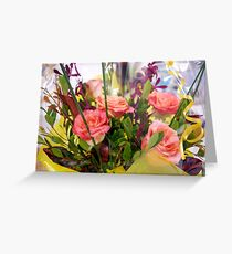 Unexpected Floral Bouquet  Greeting Card