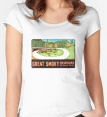 Loop Over in Great Smoky Mountains National Park Vintage Travel Decal Women's Fitted Scoop T-Shirt