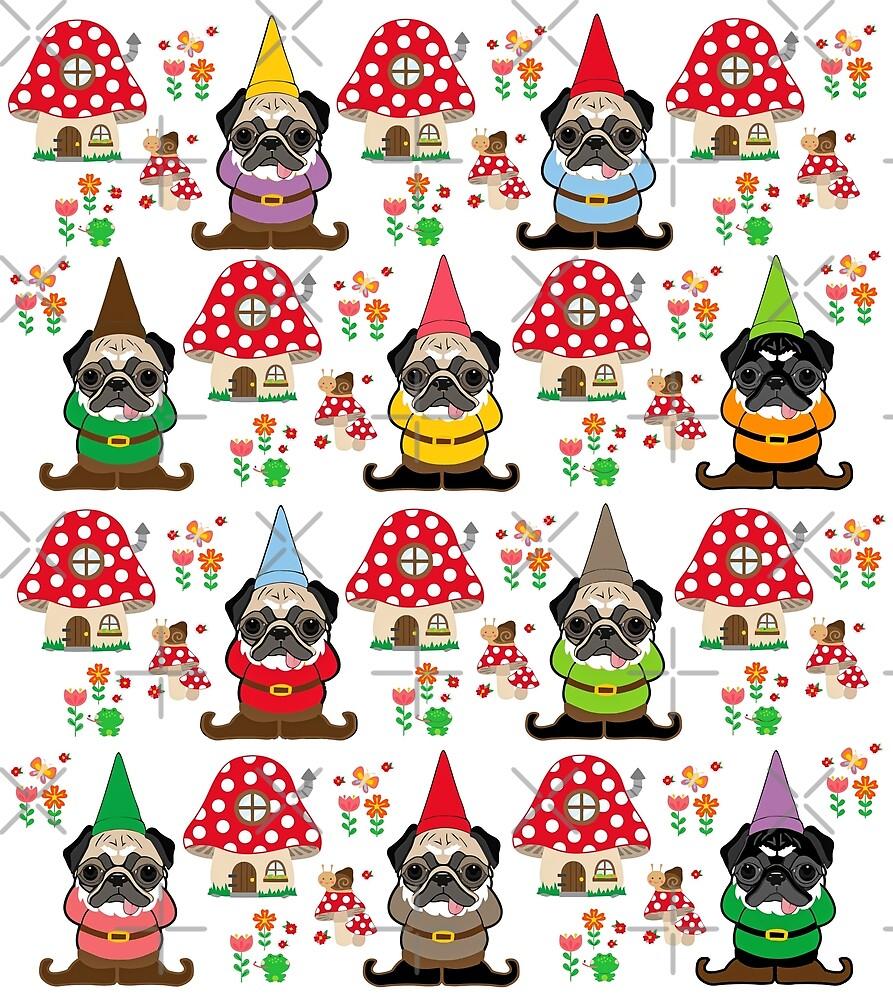 Gnome Pugs by darklordpug