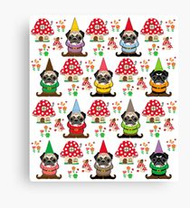Gnome Pugs Canvas Print