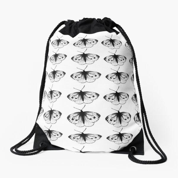 Black butterflies Drawstring Bag