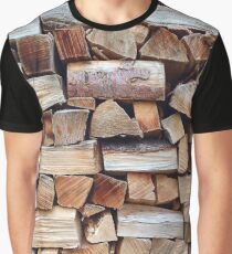 Woodpile, Textured background Graphic T-Shirt