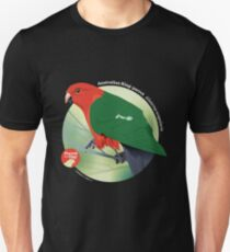 King Parrot - Small white text for dark background T-Shirt