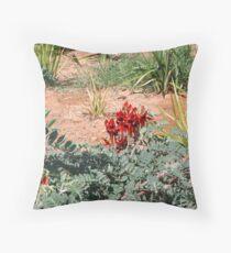 Sturts Desert Pea Throw Pillow