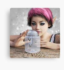 Elf with Fireflies Canvas Print