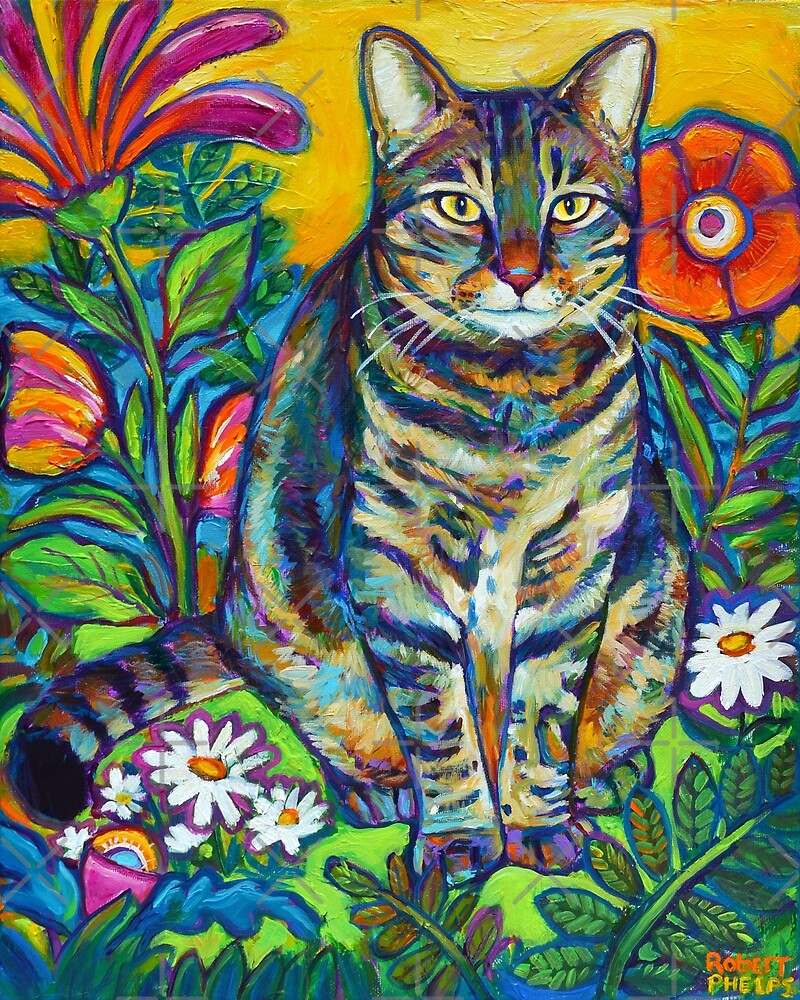 Phoebe the Flower Kitty by RobertPhelpsArt
