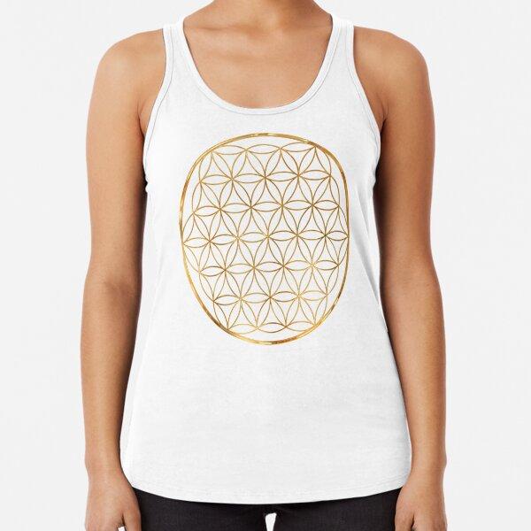 Flower of Life, sacred circle geometry Racerback Tank Top