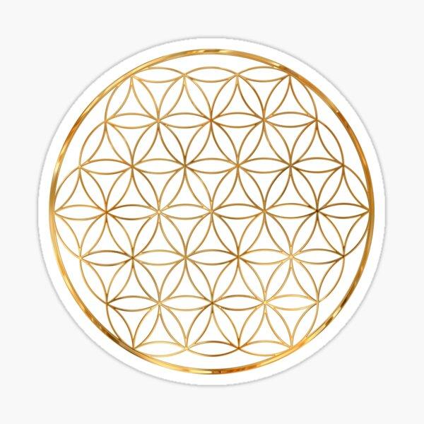 Flower of Life, sacred circle geometry Sticker