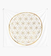 Flower of Life, sacred circle geometry Wall Tapestry