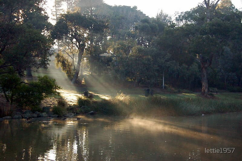 Sunrise at Ringwood Lake  by lettie1957