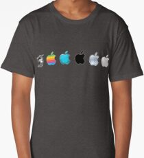 Apple Logo Evolution History Long T-Shirt