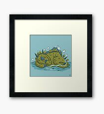 Sleeping island Framed Print