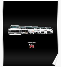 Nissan GTR Skyline Evolution History All Models Car Poster