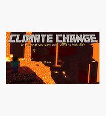 Minecraft Climate Change Photographic Print